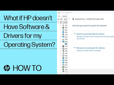 What If HP Doesn't Have Software And Drivers For My Operating System? | HP Computers | HP