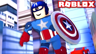 CAPTAIN AMERICA IN ROBLOX! (Roblox Superheroes)