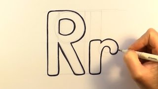 How to Draw a Cartoon Letter R and r