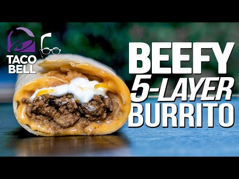TACO BELL'S BEEFY 5 LAYER BURRITO….BUT HOMEMADE & WAY BETTER! |  SAM THE COOKING GUY 4K