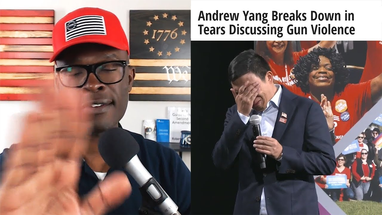 ABL Andrew Yang Breaks Down Into A Puddle Of TEARS Over Gun Violence!