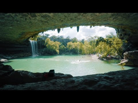 Hamilton Pool, Best Kept Secret of Texas, in Dripping Springs.