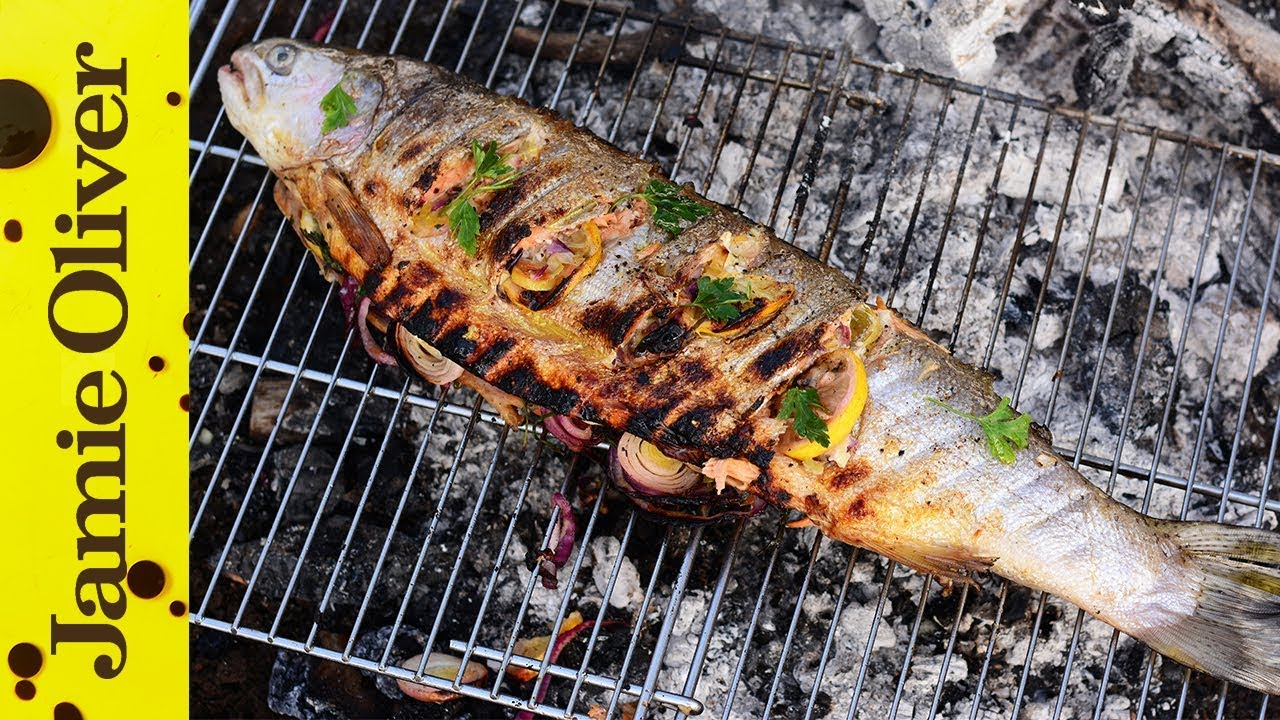 Bbq grilled trout in beer butter felicitas pizarro youtube for Max fish menu