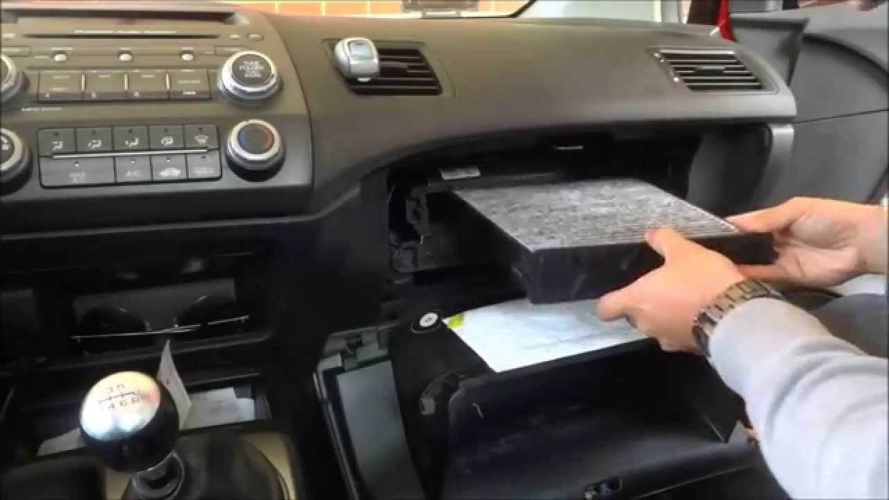 Replace Cabin Air Filter In A Honda Civic (8th Gen 2006-2011 ...