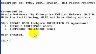 قاعدة بيانات أوراكل: كيفية إنشاء مستخدم