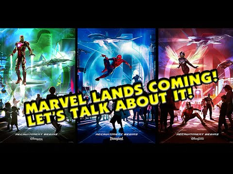 Marvel Themed Lands Coming to Disney Parks! Let's Talk About It LIVE!