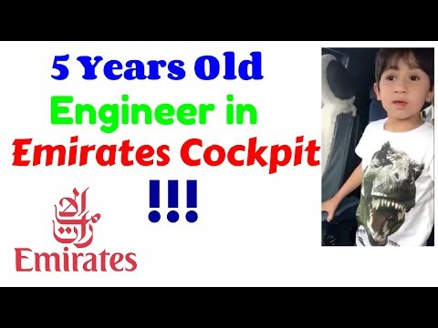 5 years old Engineer in Emirates Cockpit