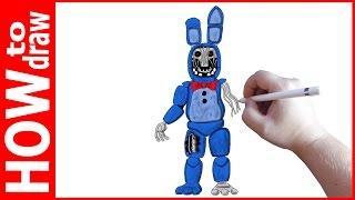 - How to draw Old Bonnie, FNAF, Как нарисовать Олд Бонни