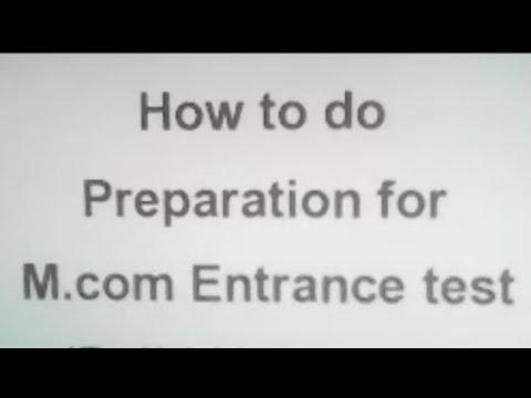 How to Prepare for M com Entrance Test