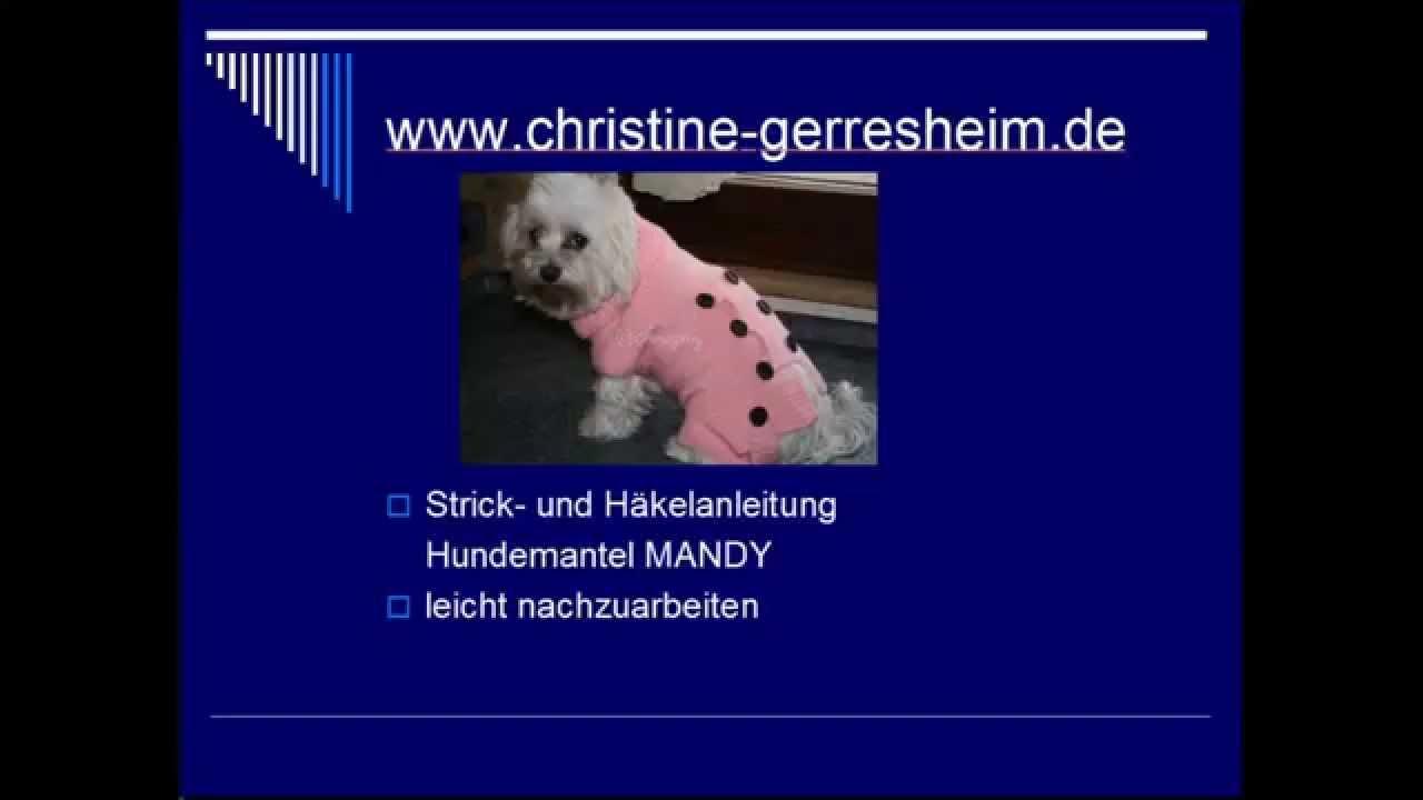 Hundemantel Mandy - YouTube