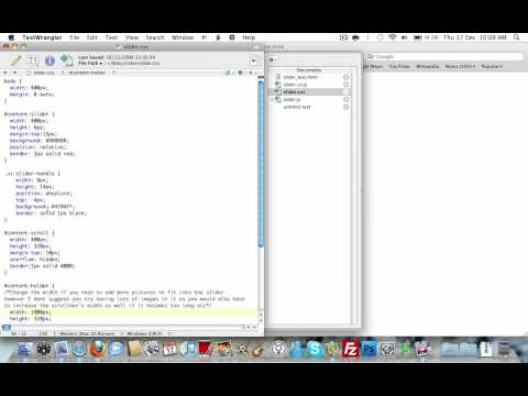 jQuery Slider with Scroll Bar UI
