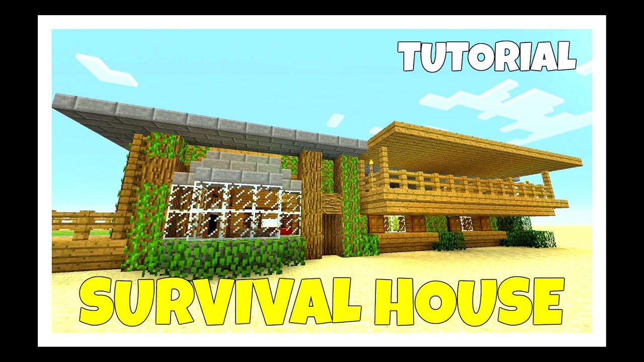 minecraft how to build a survival house tutorial medium cottage farm survival ps4 2016 - Medium House 2016