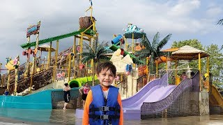 Family Fun Day at the waterpark for kids