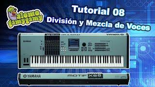 Motif XS Tutorial 8, español, División y Mezcla de Voces