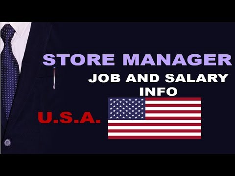 Store Manager Salary In The USA - Jobs And Wages In The United States