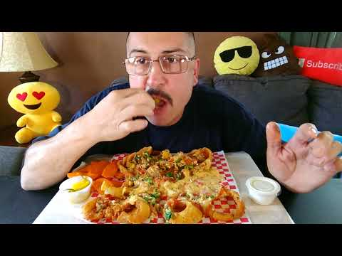 Cheesy Onion Rings*Mukbang/Eating Show