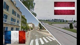 Латвия и Франция. Сравнение. Екабпилс - Перигё.