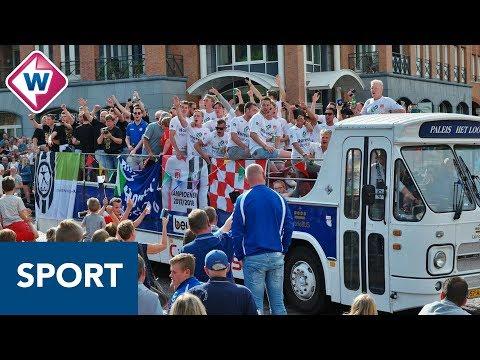 Noordwijk en SJC gehuldigd: 'Eén dorp, twee kampioenen. Welk dorp doet dat na?'