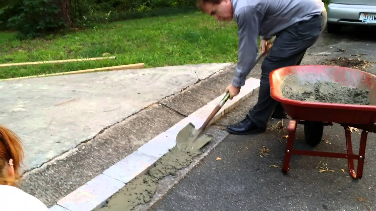 New way to fix a dip at end of driveway