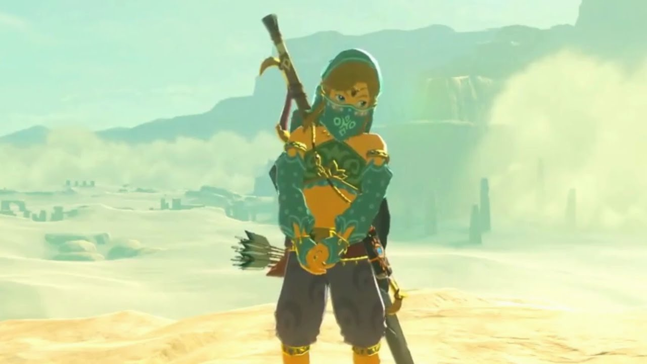Tloz Breath Of The Wild Link Wearing Girl Clothes