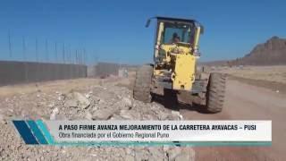 NOTA AVANCE DE EJECUCIÓN CARRETERA AYABACAS PUSI