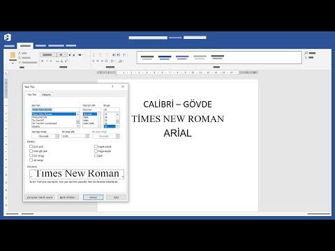 Varsayılan Yazı Tipini Ayarlamak - Microsoft Word