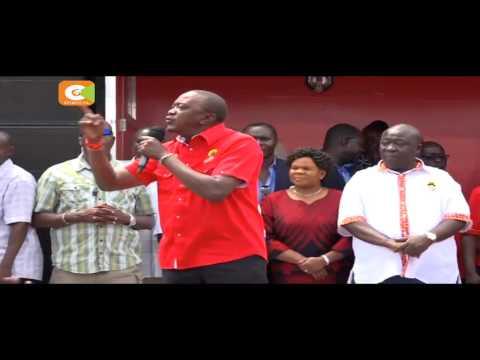 Kenyatta, Ruto campaign in Kisumu