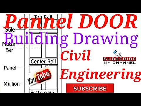 Door-Pannel Door/Building Drawing/Engineering Drawing/Civil Engineering