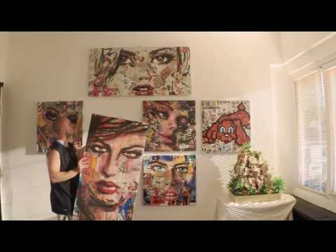 Innovative contemporary Pop Art installation with two faces/Modern wall art /Product video