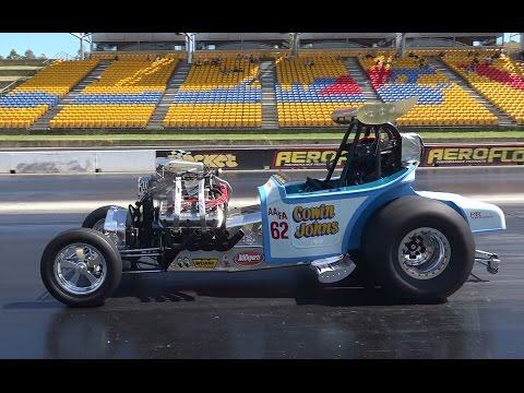 PSYCHO III AA/FA SUPERCHARGED V8 DRAGSTER 6.90 @ 201 MPH SYDNEY DRAGWAY 29.3.2015