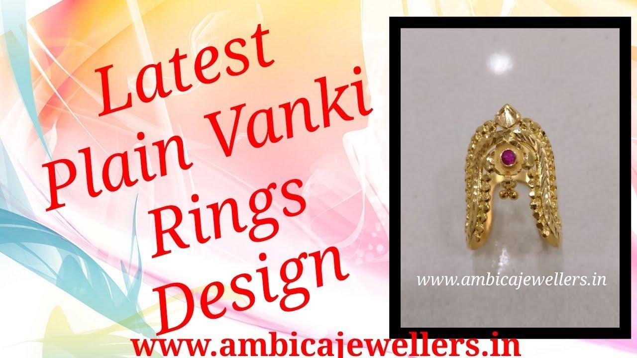 Latest Gold Rings Collection Plain Vanki Rings For Ladies 22 Karat ...