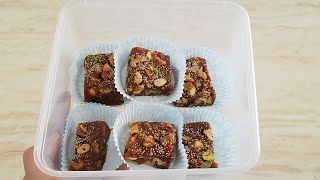 #Winter Mien Bnaien Khajor ki Bharfi Aik Bharpoor #Healthy Dates&Nuts Energy Bar urdu/Hindi BY kwf