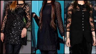 2020 #Black #Dress Design Pakistani|Black Dresses Design|Black Kurti Design|Black Kameez|Black Shirt