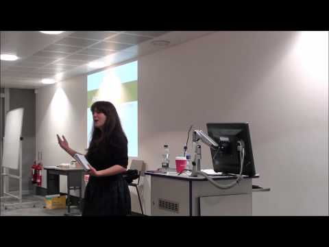 Amelia Womack speaking at Kingston University