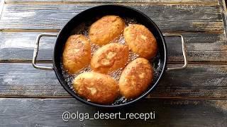 Творожные пирожки с яблочно-грушевой начинкой