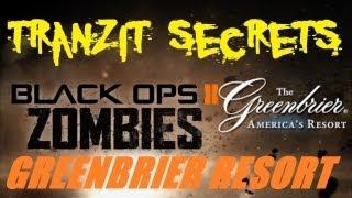 Tranzit Zombies Secrets: Greenbrier Resort - Another Underground Bunker