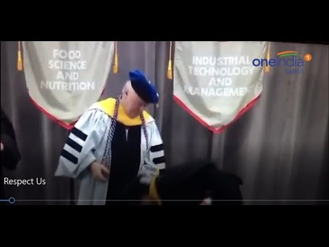 Viral! Indian student surprize the dean by touching his feet in Illinois USA - Oneindia Tamil