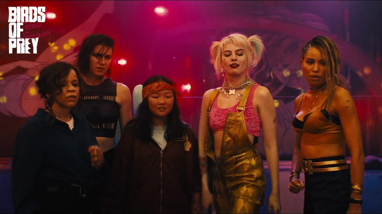 DCEU Scenes, Firstly, the scene from Birds Of Prey where Harley Quinn and a squad of baddies are fighting in a funhouse.