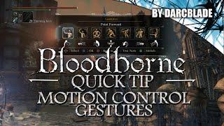 Bloodborne : Motion Control Gestures