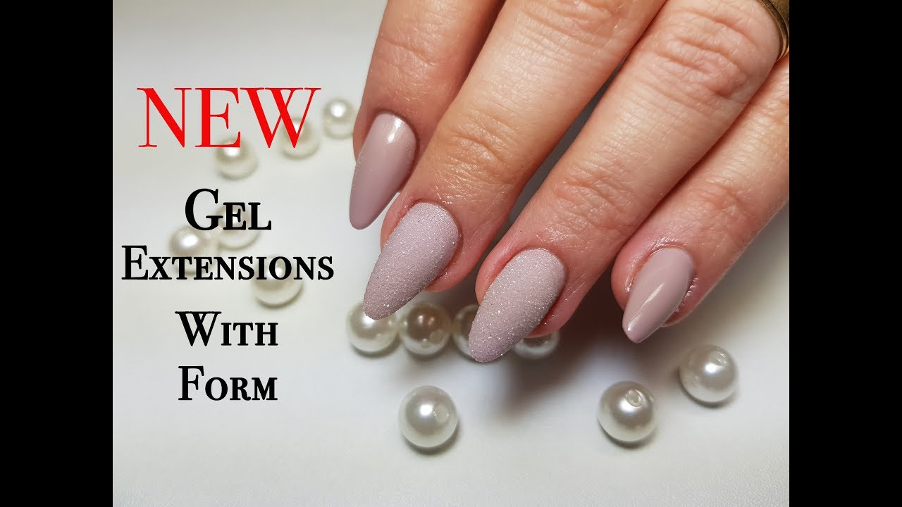 New Gel Extensions With Nail Form - YouTube