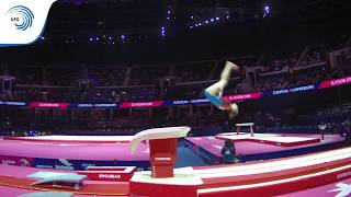 Kristina PYCHOVA (SVK) - 2018 Artistic Gymnastics Europeans, junior qualification vault