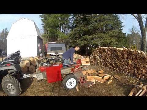 SUPERSPLIT VS. TIMBERWOLF TW-5 log splitter