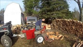 SUPERSPLIT VS. TIMBERWOLF TW-5 log splitter