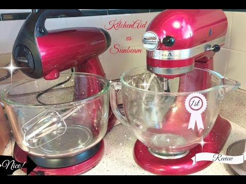 Review - KitchenAid vs Sunbeam Mixer Unboxing | Side by Side Performance Comparison