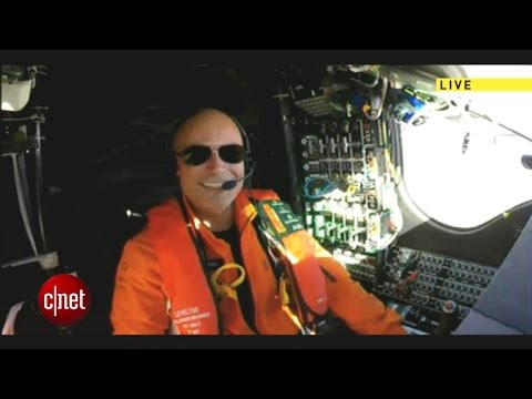 In-flight interview with Solar Impulse 2 pilot Captain Piccard
