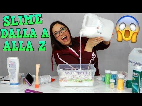 SLIME INGREDIENTI DALLA A ALLA Z! (Alfabeto SLIME challenge GIGANTE) Iolanda Sweets