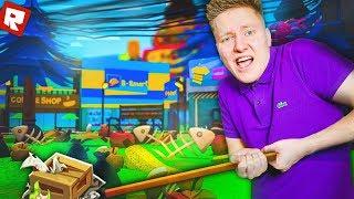 УБИРАЮ МУСОР С УЛИЦ! | Roblox