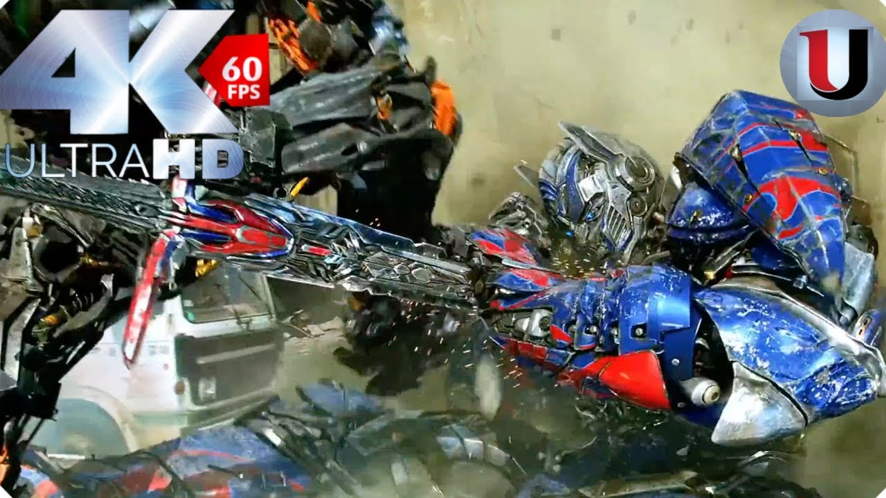 Optimus Prime vs Lockdown Final Battle Scene Transformers ...