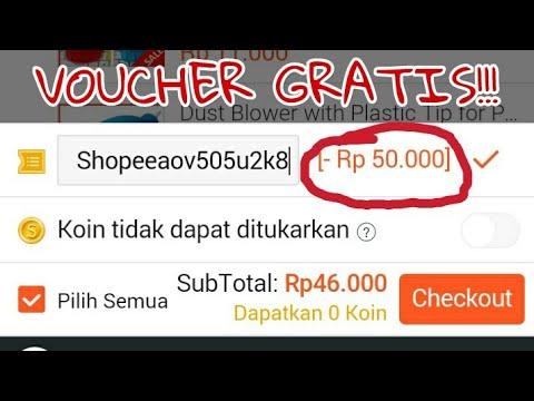 Cara mendapatkan Voucher Shopee 50k GRATIS !!! dari AOV