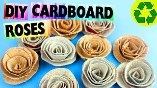 DIY Cardboard Roses- Easy Crafts